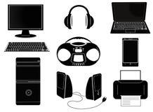 Technologii i komunikaci elementy Fotografia Royalty Free