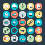 Technologii i narzędzia Barwione Wektorowe ikony 4 Obrazy Stock
