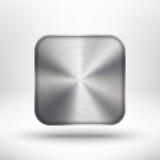 Technologii ikona z metalu teksturą i cieniem royalty ilustracja
