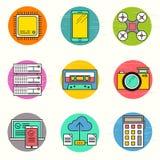 Technologii ikony wektorowy set Obraz Royalty Free