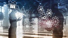 Technologii innowacja i proces automatyzacja M?drze przemys? 4 obraz stock
