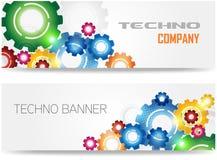 Technologii Kolorowy Przekładni Sztandar Fotografia Royalty Free