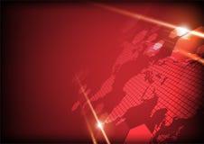 Technologii pojęcia projekt na czerwonym tle niektóre elementy thi Royalty Ilustracja