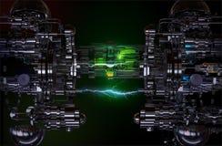 Technologii pojęcia zaawansowany technicznie instalacja ilustracja 3 d obraz royalty free
