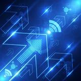Technologii prędkości wifi systemu tło, wektorowa ilustracja Fotografia Royalty Free