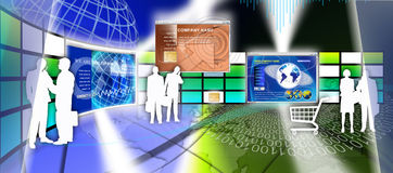 Technologii strony internetowej strony projekt Zdjęcia Royalty Free