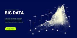 Technologii tło, Big Data strumień royalty ilustracja