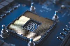 Technologii tło z komputerowym serweru półprzewodnika procesem obraz stock