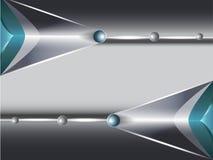 Technologii tło z srebra i zieleni strzała Zdjęcia Stock