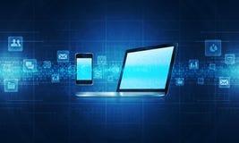 Technologii tła komunikacyjny conceptg Zdjęcie Stock