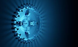 Technologisch 3d platform Stock Afbeeldingen