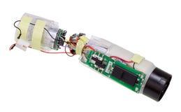 Technologisch humeur - een hoofd van het automatisch besturen van de kruisraket Stock Foto