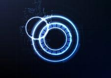 Technologisch intelligent de kringssysteem ab van de interfaceencryptie stock illustratie