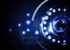 Technologische abstracte digitale cyber lichte vector als achtergrond Royalty-vrije Stock Afbeeldingen