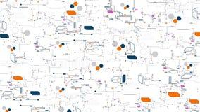 Technologische abstrakte technische digitale Rückseite des Elementbrettes voll Lizenzfreie Stockfotos