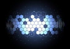 Technologische abstrakte technische digitale Rückseite des Elementbrettes voll Lizenzfreie Stockbilder