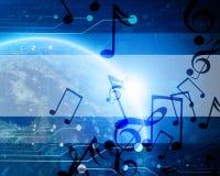 Technologische blauwe aarde Stock Afbeelding