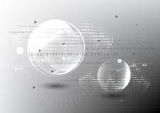Technologische globale moderne Kommunikationsaustausch-Zusammenfassungsrückseite Lizenzfreies Stockfoto