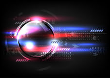 Technologische globale schnelle Kommunikation modernes abstraktes backgrou Lizenzfreies Stockbild