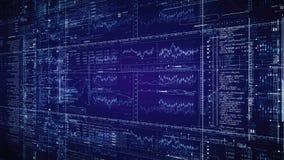 Technologische intro van HUD Het bewegen zich langs Geanimeerde digitale raad stock footage