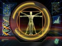 Technologische mens vector illustratie