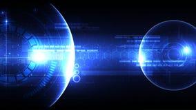 Technologische ruimte head-up diplay vectorsamenvatting als achtergrond Royalty-vrije Stock Foto