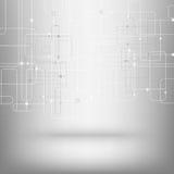 Technologische vectorachtergrond met een textuur van de kringsraad vector illustratie