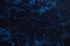 Technologische verbindings futuristische vorm, blauw puntnetwerk, abstracte achtergrond, blauwe achtergrond, Concept Netwerk vector illustratie