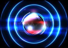 Technologische verbreitete moderne Zusammenfassung des Signals der globalen Kommunikation Stockbilder