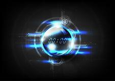 Technologische Zeit der globalen Kommunikation modernes abstraktes backgrou Lizenzfreies Stockfoto