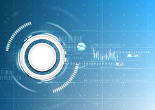Technologischer abstrakter digitaler Schablonensignal-Diagrammplan Stockfotografie