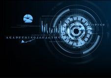 Technologischer abstrakter Gittergeschäftsschnittstellen-Hintergrundvektor Lizenzfreie Stockfotografie