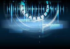 Technologischer abstrakter Hintergrund der digitalen Schnittstelle des Impulses Lizenzfreie Stockfotos