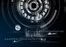 Technologischer abstrakter metallischer Geschäftsschnittstellenhintergrund VE Stockfotos