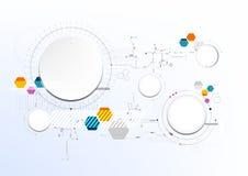 Technologischer abstrakter moderner digitaler Brettkunst-Hintergrundvektor Stockfotos