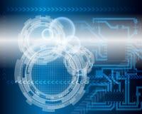 Technologischer blauer Hintergrund Lizenzfreie Stockbilder