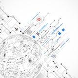 Technologischer Hintergrund des abstrakten Bereichs Stockbild
