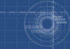 Technologischer Hintergrundvektor der digitalen Schnittstelle des Planes Lizenzfreie Stockfotos