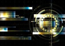 Technologischer Raum metallisches hud Anzeigenvektor-Hintergrundabstr. Stockbilder