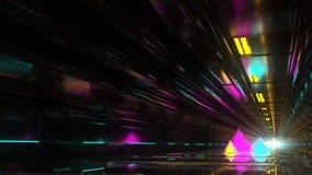 Technologischer Tunnel mit Pyramiden Stockfoto