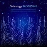 Technologischer Vektorhintergrund Stockbilder