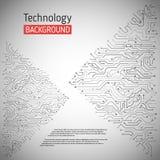 Technologischer Vektorhintergrund Lizenzfreie Stockfotos
