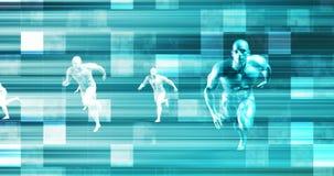Technologischer Wettbewerb und Investition in der Forschung und Entwicklung stock footage