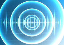Technologisches abstraktes digitales Trockenfäulewellensignal-Plan inte Lizenzfreies Stockfoto