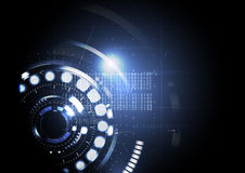 Technologisches abstraktes modernes LED backgr Licht der digitalen Schnittstelle Stockfotografie