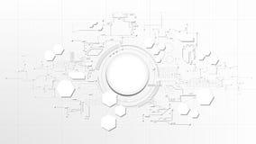 Technologisches abstraktes technisches digitales Elementbrett-Weiß tex Lizenzfreie Stockfotos