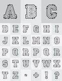 Technologisches Alphabet Lizenzfreies Stockfoto