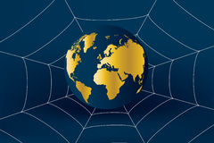 Technology 03. World wide web business, globe in net Stock Images