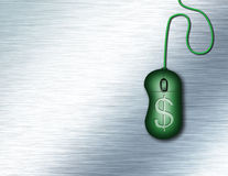 Technology. Composition with green mouse and dollar symbol Stock Image