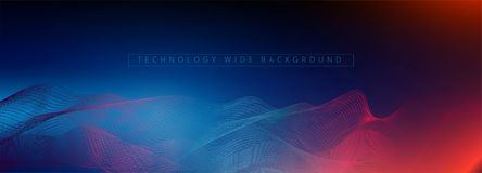 Abstract 3d technology and science neon visualization. Blockchain and cryptocurrency. Digital wallpaper. Business concept. Big dat. A and artificial intelligence royalty free illustration